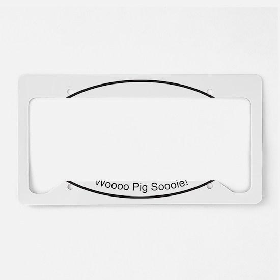 Red WPS Sticker License Plate Holder