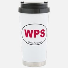 Red WPS Sticker Stainless Steel Travel Mug