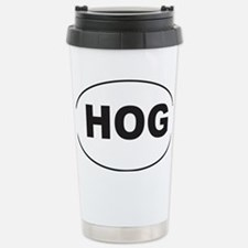 Black HOG Sticker Stainless Steel Travel Mug