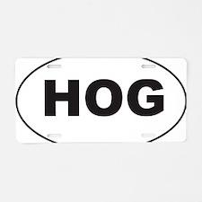 Black HOG Sticker Aluminum License Plate