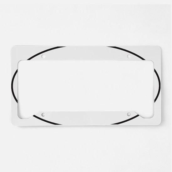 Black HOG Sticker License Plate Holder