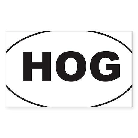 Black HOG Sticker Sticker (Rectangle)