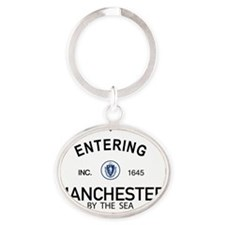 Manchester by the Sea Oval Keychain