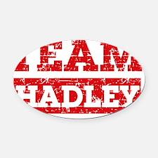 Team hadley Oval Car Magnet