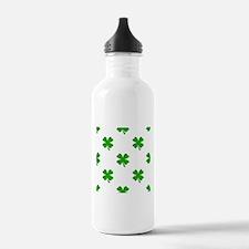 st patricks clover emo Water Bottle
