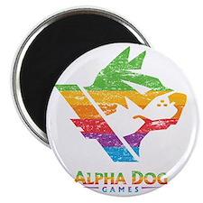 Alpha Dog Distressed Color Bars Magnet