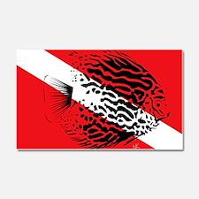 discus fish dive flag Car Magnet 20 x 12