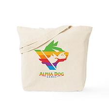 Alpha Dog Color Bars Logo Tote Bag