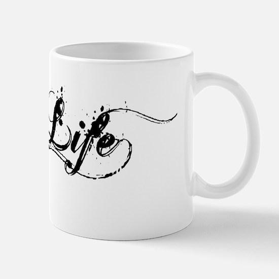Black Hog Life Sticker Mug