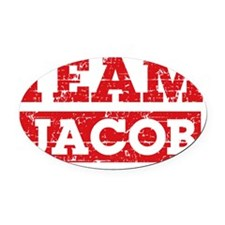 Team Jacob Oval Car Magnet