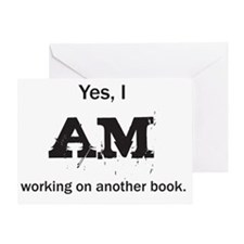 Yes, I AM (black) Greeting Card