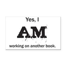 Yes, I AM (black) Rectangle Car Magnet