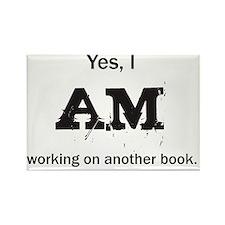 Yes, I AM (black) Rectangle Magnet