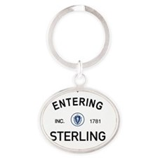 Sterling Oval Keychain