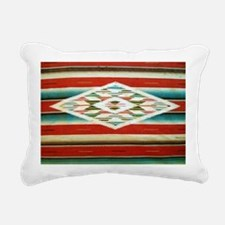 Old Mexican Serape Shoul Rectangular Canvas Pillow