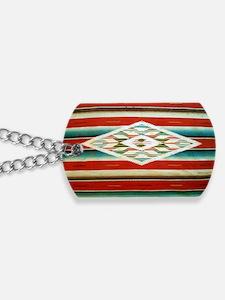 Old Mexican Serape Shoulder Bag Dog Tags