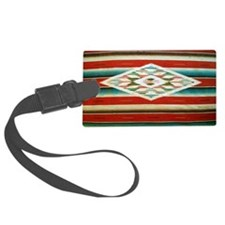 Old Mexican Serape Shoulder Bag Luggage Tag