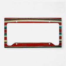 Old Mexican Serape Shoulder B License Plate Holder