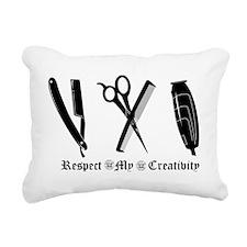 Barber Tools Rectangular Canvas Pillow