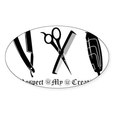 Barber Tools Sticker (Oval)