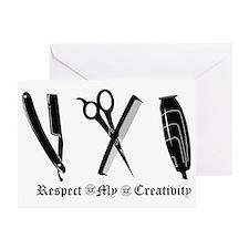 Barber Tools Greeting Card