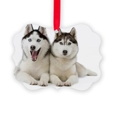 Siberian Huskies Ornament