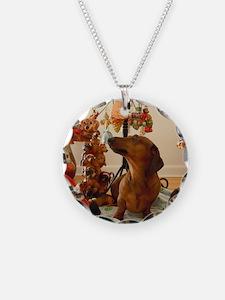 Christmas Dachshund (Ver.2)  Necklace