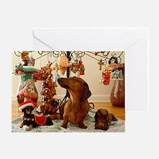 Christmas Dachshund (Ver.2) Balloon Greeting Card