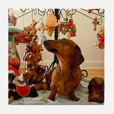 Christmas Dachshund (Ver.2) Balloon Tile Coaster
