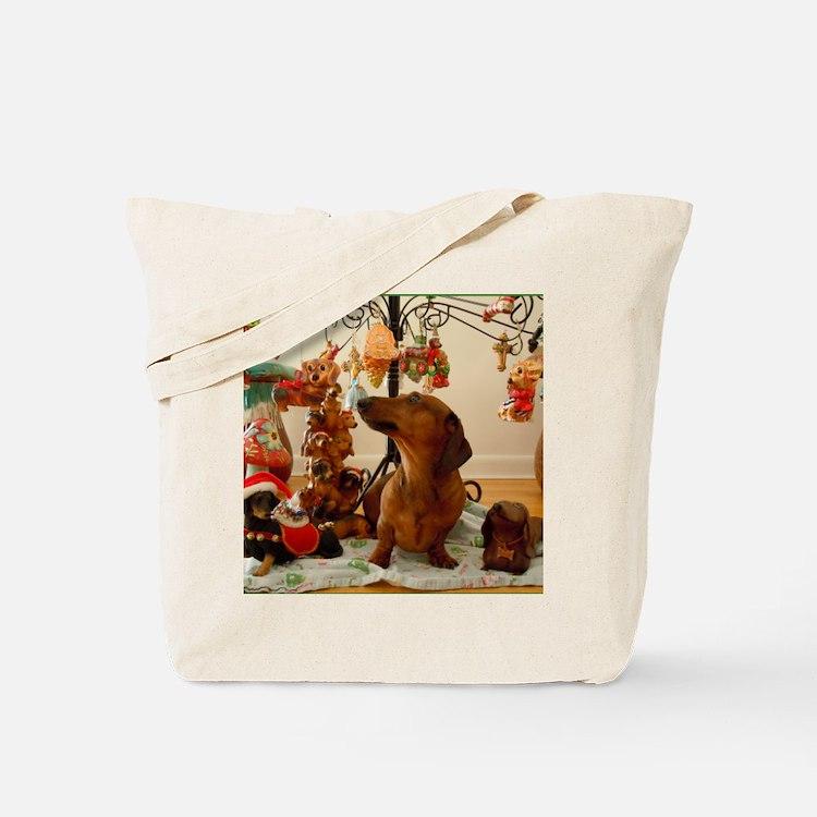 Christmas Dachshund (Ver.2) Balloon Tote Bag