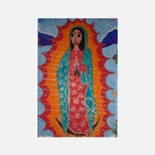 Our Lady of Guadalupe Balloon Rectangle Magnet