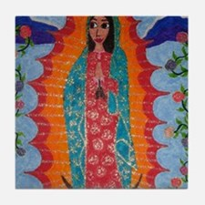 Our Lady of Guadalupe Balloon Tile Coaster