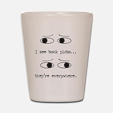 I see book plots... (black) Shot Glass