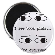 I see book plots... (black) Magnet