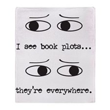 I see book plots... (black) Throw Blanket
