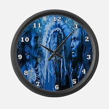 Three Chiefs Large Wall Clock