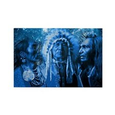 Three Chiefs Rectangle Magnet