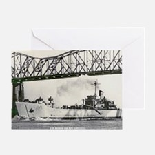 uss desoto county large framed print Greeting Card