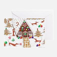 Gingerbread Dachshunds Balloon Greeting Card