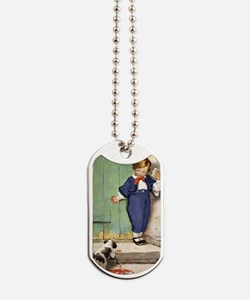A Childs Book - puppy negotiation Dog Tags