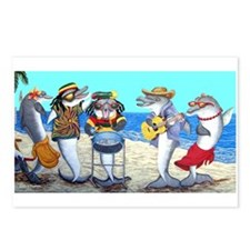 Dolphin Beach Party Postcards (Package of 8)