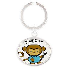 Little Grease Monkey Oval Keychain