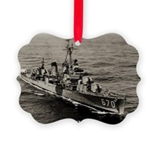 uss dortch large framed print Ornament