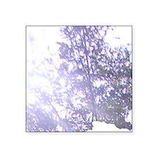 "Whispering Blue Tree Square Sticker 3"" x 3"""