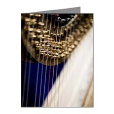 close up of a harp Note Cards (Pk of 20)