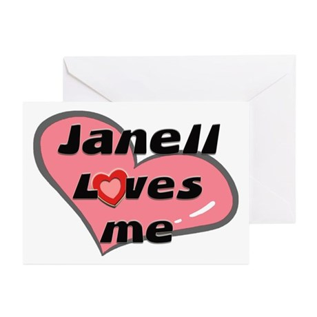 janell loves me Greeting Cards (Pk of 10)