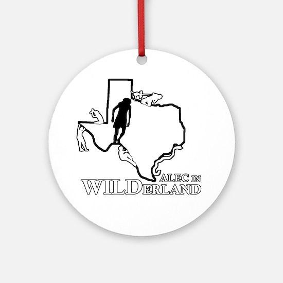 Alec in Wilderland Round Ornament