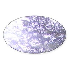 Whispering Blue Tree Decal