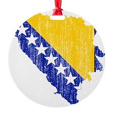 Bosnia and Herzegovina Flag and Map Ornament