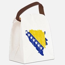 Bosnia and Herzegovina Flag and M Canvas Lunch Bag